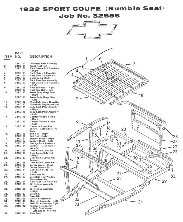 Autowood Restoration - Exploded View Drawings